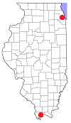 Map of Illinois counties.